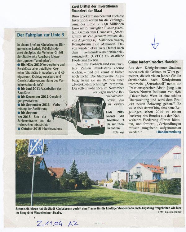 Augsburger Allgemeine , November 2009