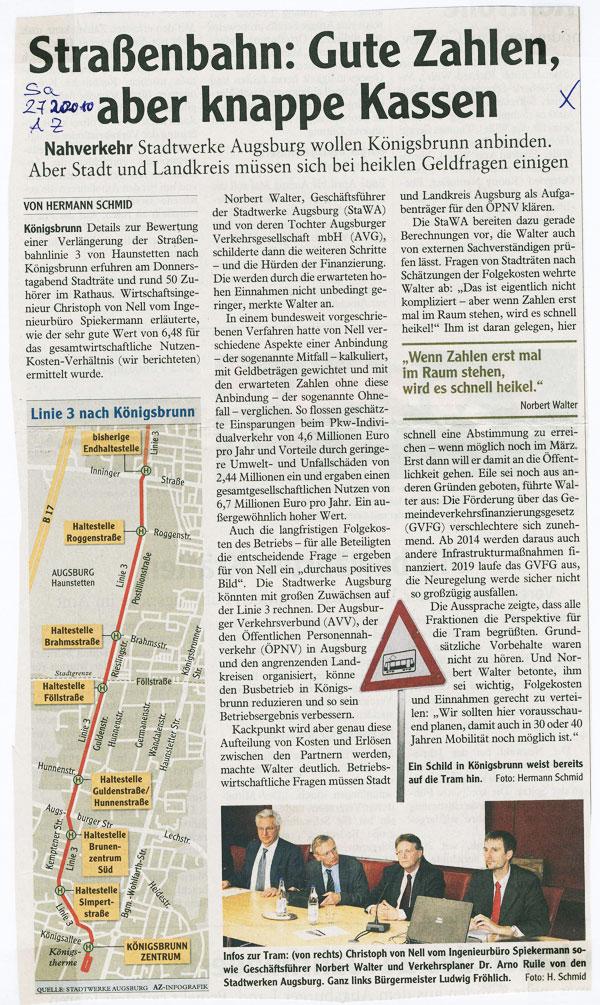 Augsburger Allgemeine, Oktober 2010