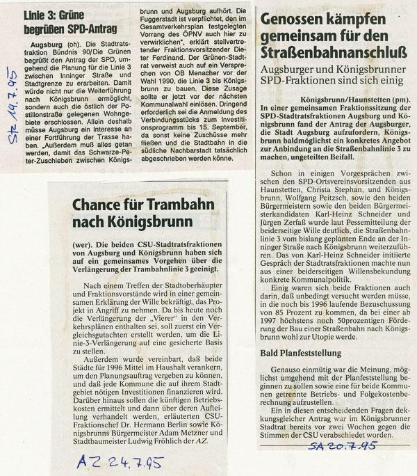 SA, AZ und STZ, Juli1995