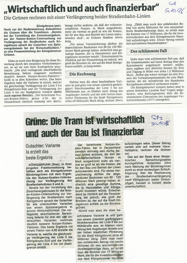 SA und STZ, Oktober 1996